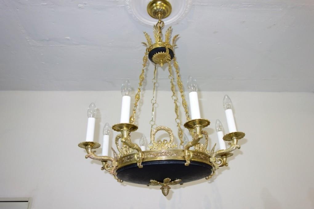 Edler kronleuchter im stil des klassizismus um 1920 for Antike lampen