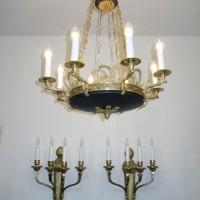 VERKAUF-Nr. 9 Antiker Kronleuchter im Stil des Klassizismus-Schinkelleuchter
