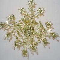 VERKAUF-Nr.15 Biedermeier Kronleuchter Salonlampe vergoldet