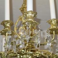 Nr.15 BieVERKAUF-dermeier Kronleuchter Salonlampe vergoldet