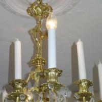 VERKAUF-Nr.15 Antiker Kronleuchter Salonlampe vergoldet
