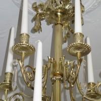 VERKAUF-Nr.19 Empire- Kronleuchter mit Kerzen um 1880