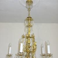 VERKAUF-Nr.11 Gründerzeit Biedermeier-Kronleuchter-Lampe um 1860