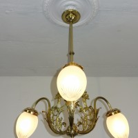 VERKAUF-Nr.8 Antike Jugendstillampe-Deckenlampe