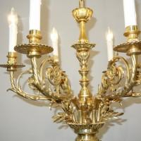 VERKAUF-Nr.7 Bronze-Lüster Empire vergoldet
