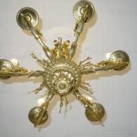 VERKAUF-Nr.7 Bronze Lüster Empire vergoldet
