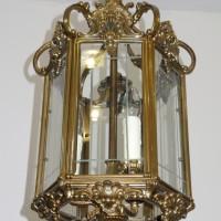 Nr.6 Große Hallenlampe Laterne Bronze
