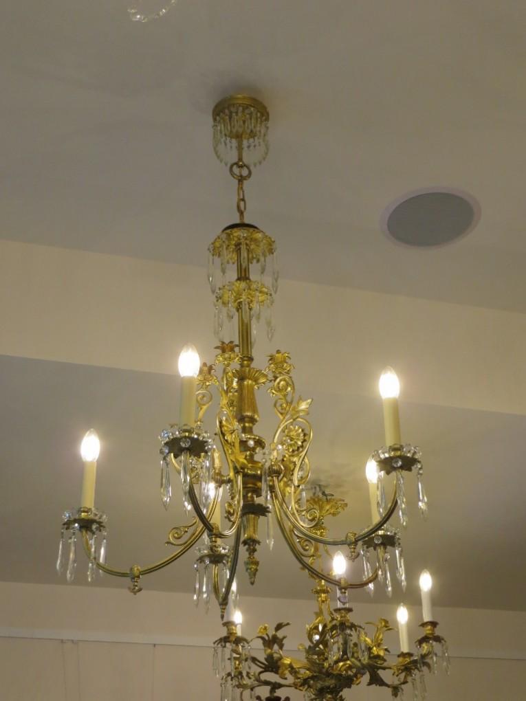 Nr biedermeier kronleuchter um 1860 antike lampen und for Antike lampen
