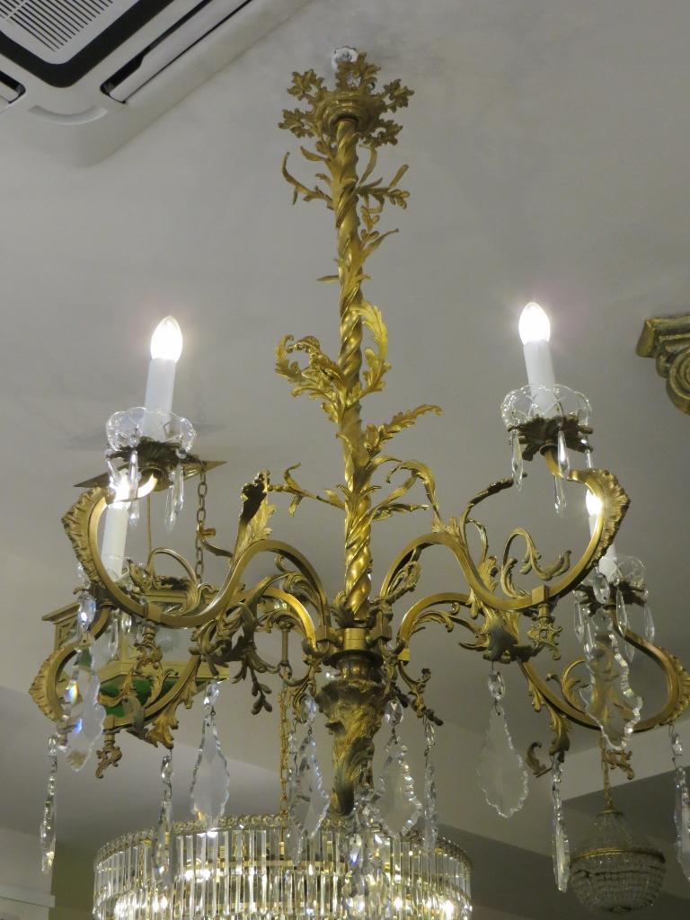Rokoko kronleuchter sehr selten antike lampen und for Antike lampen