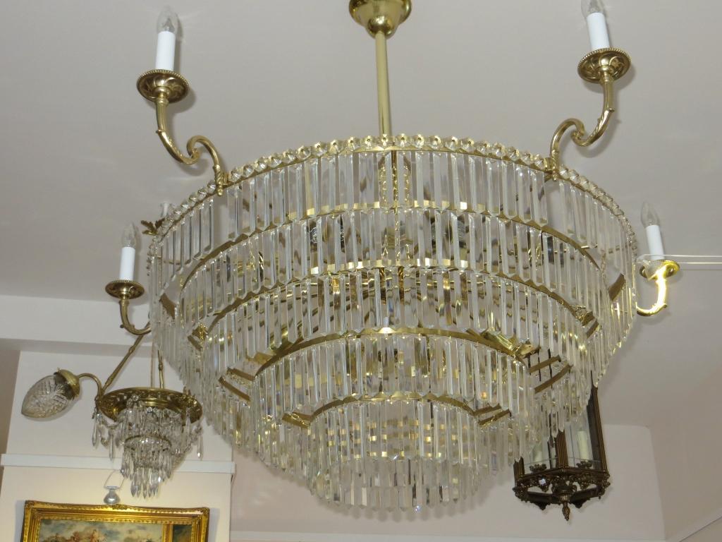 Kronleuchter Mit Langer Kette ~ Nr.15 kronleuchter firma palme um 1930 u203a antike lampen und leuchten