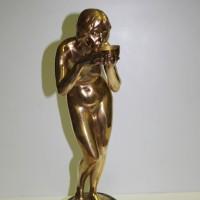Jugendstil Bronze Marmorsockel ergänzt