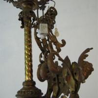 Gründerzeit-Deckenlampe im Fundzustand