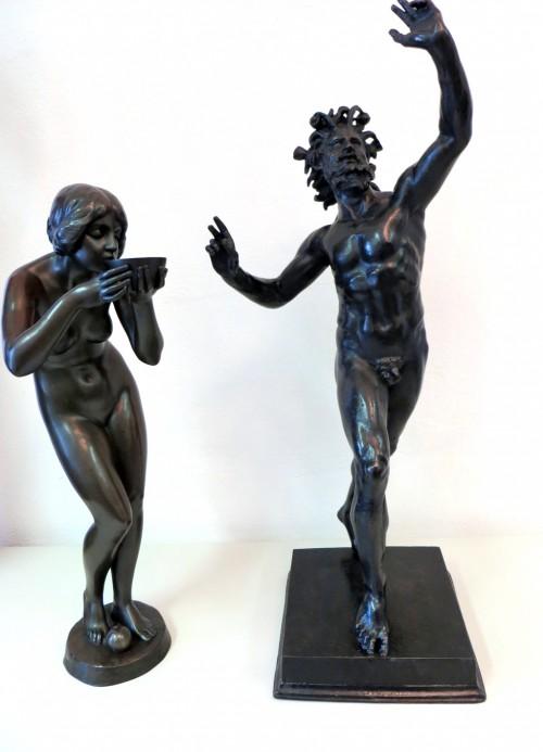 Große restaurierte Bronzen-Metallrestaurierung